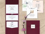 Black and Burgundy Wedding Invitations Maroon Wedding Invitations Sunshinebizsolutions Com