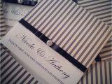 Black and Cream Wedding Invitations Black Cream Stripe Wedding Invitation Paperrose Weddings