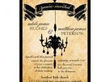 Black and Cream Wedding Invitations Victorian Chandelier Black Cream Wedding 5×7 Paper