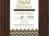 Black and Gold Bridal Shower Invitations Black and Gold Bridal Shower Invitations Modern Chevron