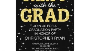 Black and Gold Graduation Party Invitations Personalized Glitter Graduation Invitations