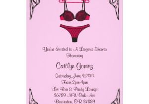 Black and Pink Bridal Shower Invitations Black & Pink Lingerie Bridal Shower Invitation