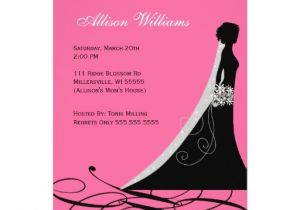 Black and Pink Bridal Shower Invitations Bridal Shower Invitations In Hot Pink and Black