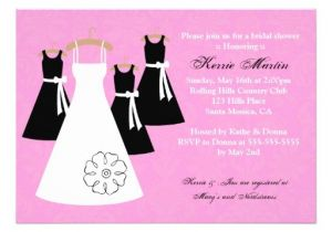 "Black and Pink Bridal Shower Invitations Chic Pink and Black Bridal Shower Invitation 5"" X 7"
