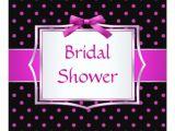Black and Pink Bridal Shower Invitations Polka Dot Black and Pink Bridal Shower Invitation