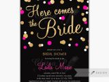 Black and Pink Bridal Shower Invitations Request A Custom order and Have something Made Just for You