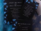 Black and Royal Blue Wedding Invitations Elegant Damask Black and Blue Wedding Invitations Ewi037