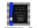 Black and Royal Blue Wedding Invitations Royal Blue Black Lace Wedding Invitation