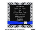 Black and Royal Blue Wedding Invitations Royal Blue Black Silver Lace Wedding Invitation