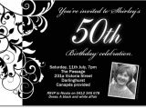 Black and White 40th Birthday Party Invitations Free Black and White Birthday Invitations Design Free