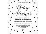 Black and White Baby Shower Invites Black & White Confetti Dots Baby Shower Invitation