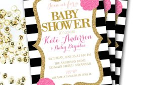 Black and White Baby Shower Invites Black and White Baby Shower Invitations