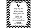 "Black and White Baby Shower Invites Black and White Chevron Baby Shower Invitation 5"" X 7"