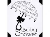 Black and White Baby Shower Invites Black and White Umbrella Baby Shower Invitation 11 Cm X 14