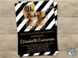 Black and White Baby Shower Invites Chandeliers & Pendant Lights