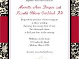 Black and White Bridal Shower Invitation Templates Black and Red Wedding Invitations Template