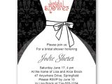 Black and White Bridal Shower Invitation Templates Black and White Inexpensive Wedding Dress Bridal Shower