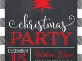 Black and White Christmas Party Invitations Black and White Christmas Party Invitations