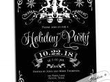 Black and White Christmas Party Invitations Black and White Holiday Party Invitation Christmas by