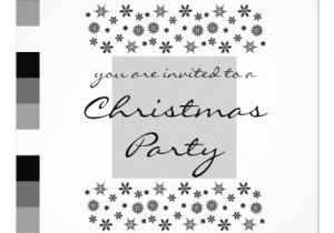 Black and White Christmas Party Invitations Black Silver White Christmas Party Invitation 1 5 25