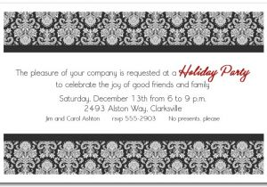 Black and White Christmas Party Invitations Black White Enchanting Damask Holiday Invitations