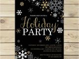 Black and White Christmas Party Invitations Christmas Party Invitation Holiday Party Invitation