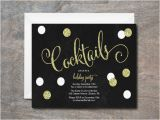 Black and White Cocktail Party Invitations 9 Black and White Party Invitations Jpg Psd Vector