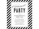 Black and White Engagement Party Invitations Black and White Engagement Party Invitations 13 Cm X 18 Cm