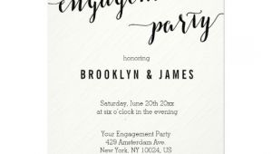 Black and White Engagement Party Invitations Black and White Engagement Party Invitations Zazzle Com