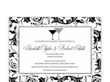 Black and White Engagement Party Invitations Engagement Party Invitations Damask Black and White