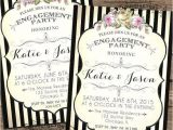 Black and White Engagement Party Invitations Engagement Party Invitations Printable Diy Black and White