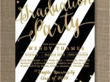 Black and White Graduation Invitations Black and Gold Graduation Party B Lovely events