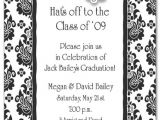 Black and White Graduation Invitations Parisian Black White Graduation Cap Invitation