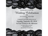 Black and White Lace Wedding Invitations 8 Black and White Wedding Invitations