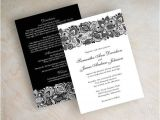 Black and White Lace Wedding Invitations Black and White Lace Wedding Invitations Cobypic Com