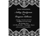 Black and White Lace Wedding Invitations Black and White Moroccan Lace Wedding Invitation Zazzle