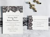 Black and White Lace Wedding Invitations Black and White Vintage Lace Uv Printing Wedding