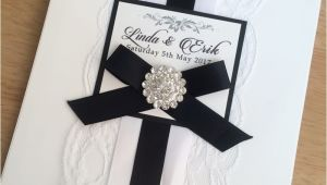 Black and White Lace Wedding Invitations Lace Wedding Invitations Free Shipping