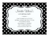 Black and White Polka Dot Birthday Invitations Black and White Polka Dot Invitations Zazzle