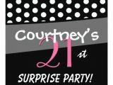 Black and White Polka Dot Birthday Invitations Black and White Polka Dot Surprise Birthday Party