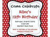 Black and White Polka Dot Birthday Invitations Red Black Polka Dots Birthday Party Invitations 5 25