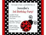 Black and White Polka Dot Birthday Invitations Red Ladybug Birthday Black and White Polka Dots