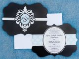 Black and White Quinceanera Invitations New Black and White Quinceanera Invitations Shannon