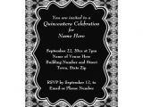 Black and White Quinceanera Invitations Personalized Black and White Quinceanera Invitations