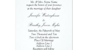 Black and White Wedding Invitation Template Template Black and White Wedding Invitation Zazzle Com