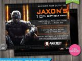 Black Ops Party Invitations 16 Best Images About Black Ops 3 On Pinterest Fred