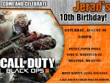 Black Ops Party Invitations Call Of Duty Black Ops 3 Birthday Invitation Kustom