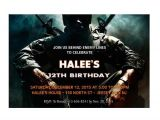 Black Ops Party Invitations Call Of Duty Black Ops Personalized Birthday Party Invitations
