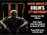 Black Ops Party Invitations Call Of Duty Invitations From General Prints