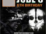 Black Ops Party Invitations Personalized Photo Invitations Cmartistry Call Of Duty